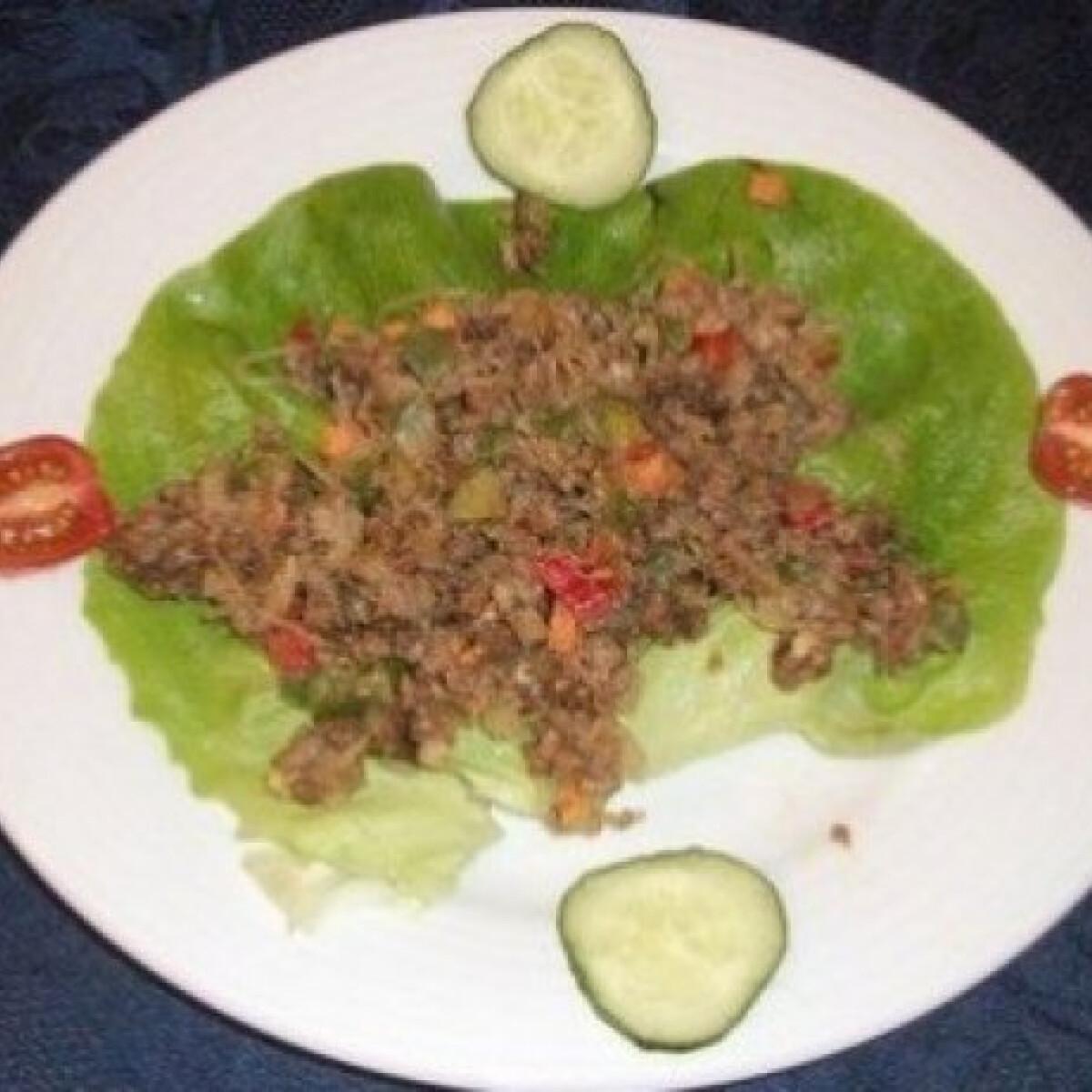 Ezen a képen: Thai darált húsos üvegtészta