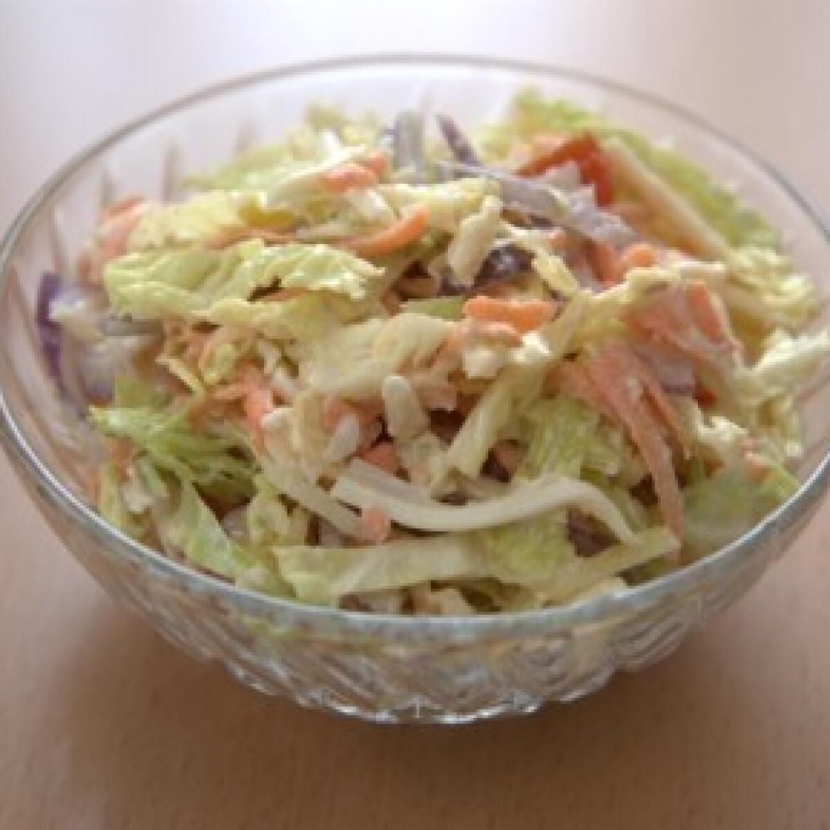 Ezen a képen: Ementális kelkáposzta saláta