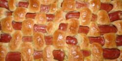 Virslivel szőtt kenyér