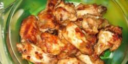 Mézes - mustáros csirkeszárnyak