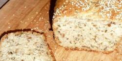 Medvehagymás-magvas kenyér