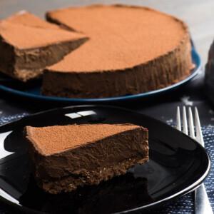 Csupa csoki torta sütés nélkül