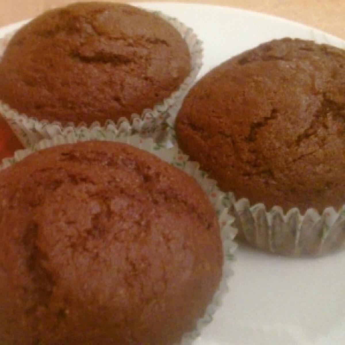 Ezen a képen: Narancslekváros-kakaós muffin