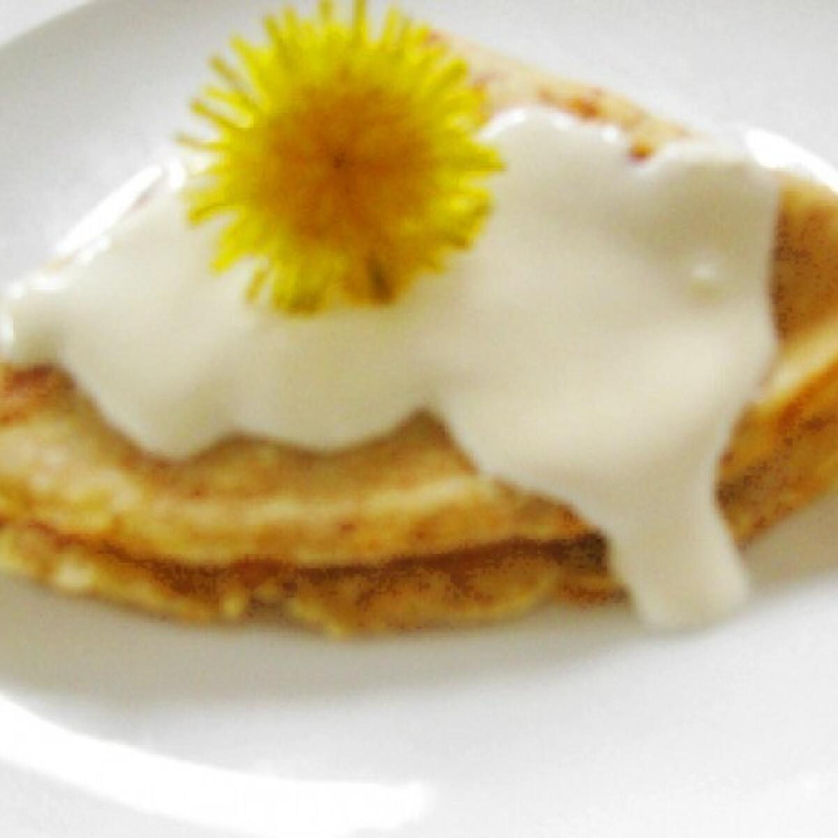 Ezen a képen: Répás palacsinta narancsos-tejfölös öntettel