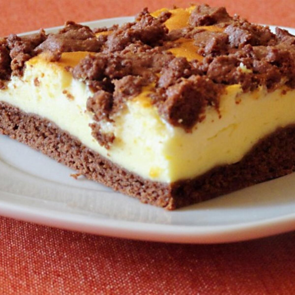 Ezen a képen: Kakaós-túrós sütemény