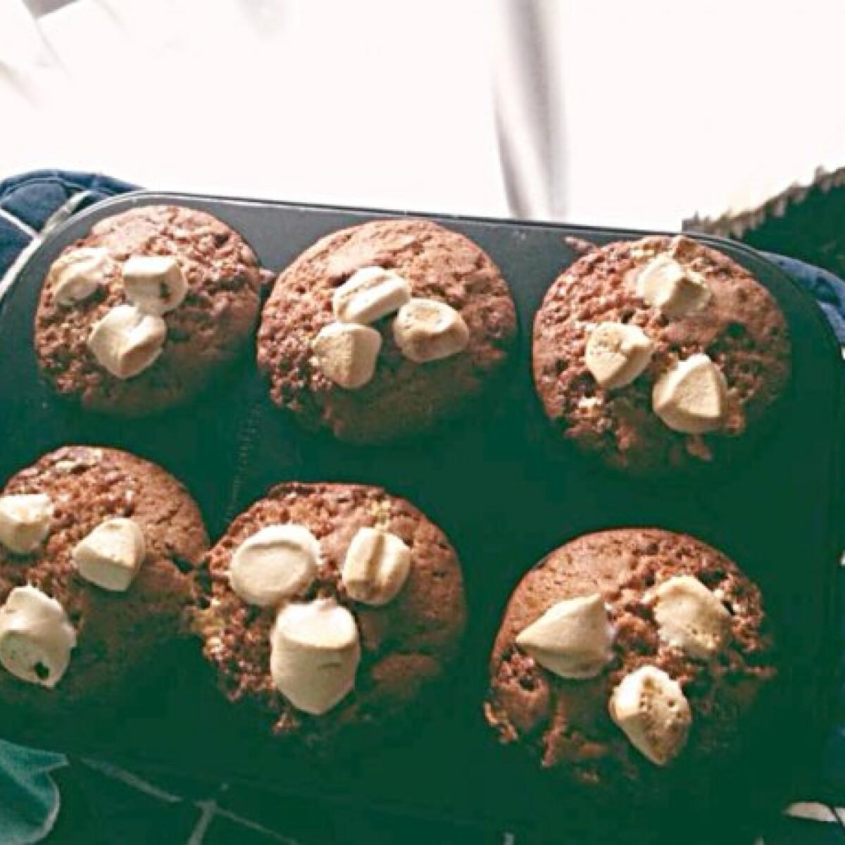 Ezen a képen: Mályvacukros muffin Barbara konyhájából
