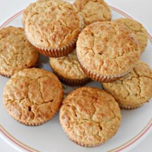Steviás mogyorós-banános muffin