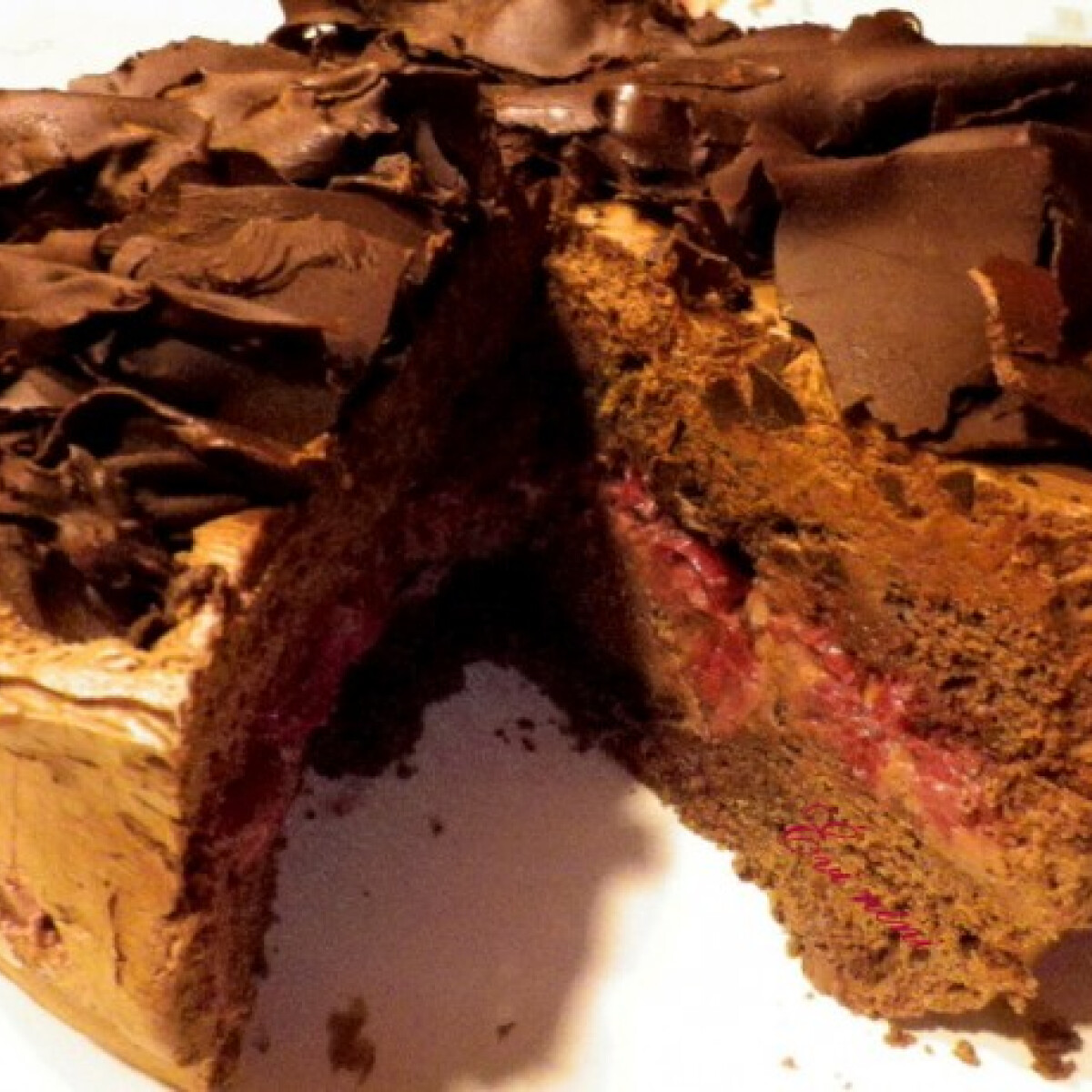 Ezen a képen: Csokimousse-torta