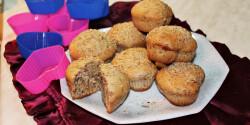 Diókrémmel töltött diós muffin Iluskától