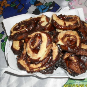 Mogyorókrémes-kakaós csiga