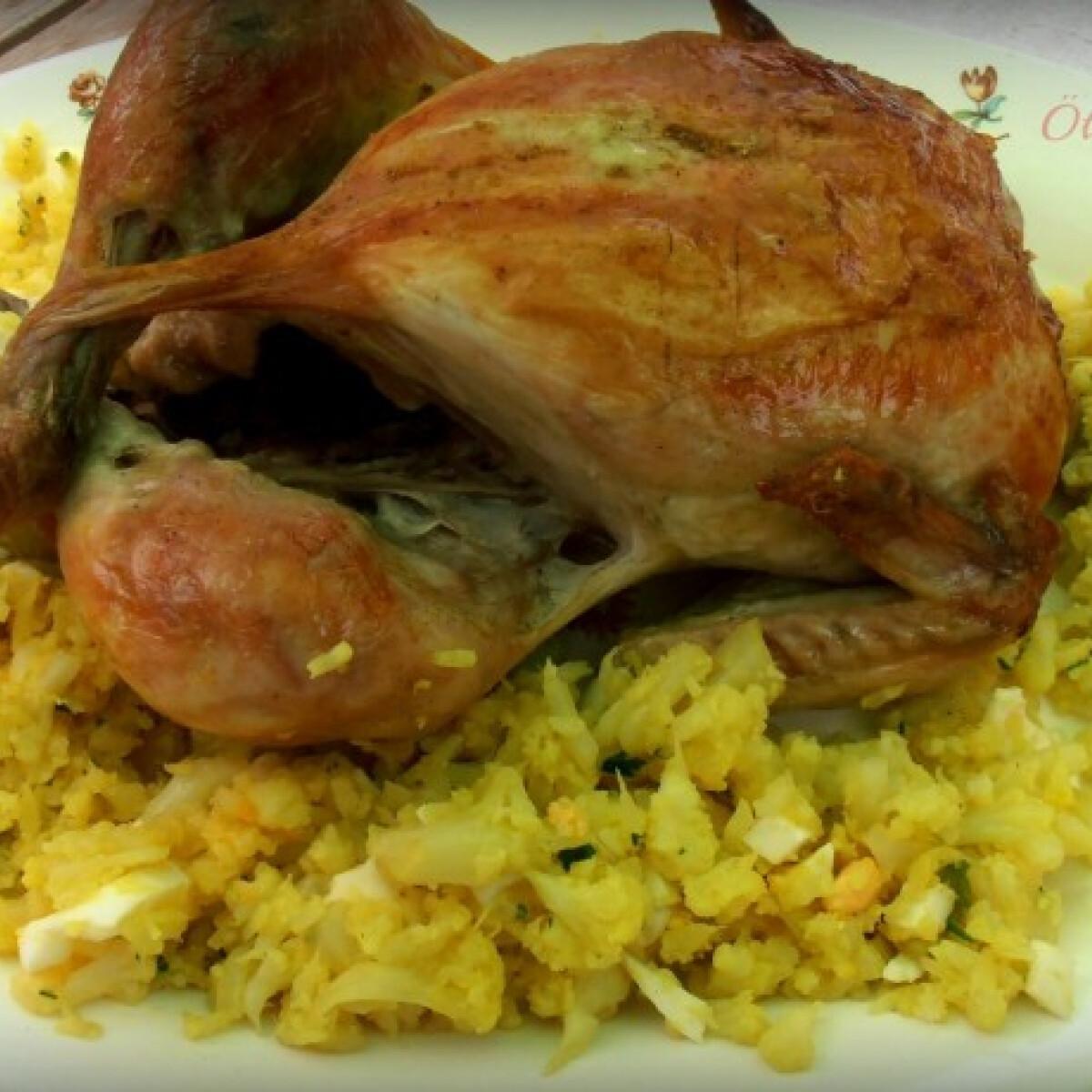Kurkumás csirke karfiollal