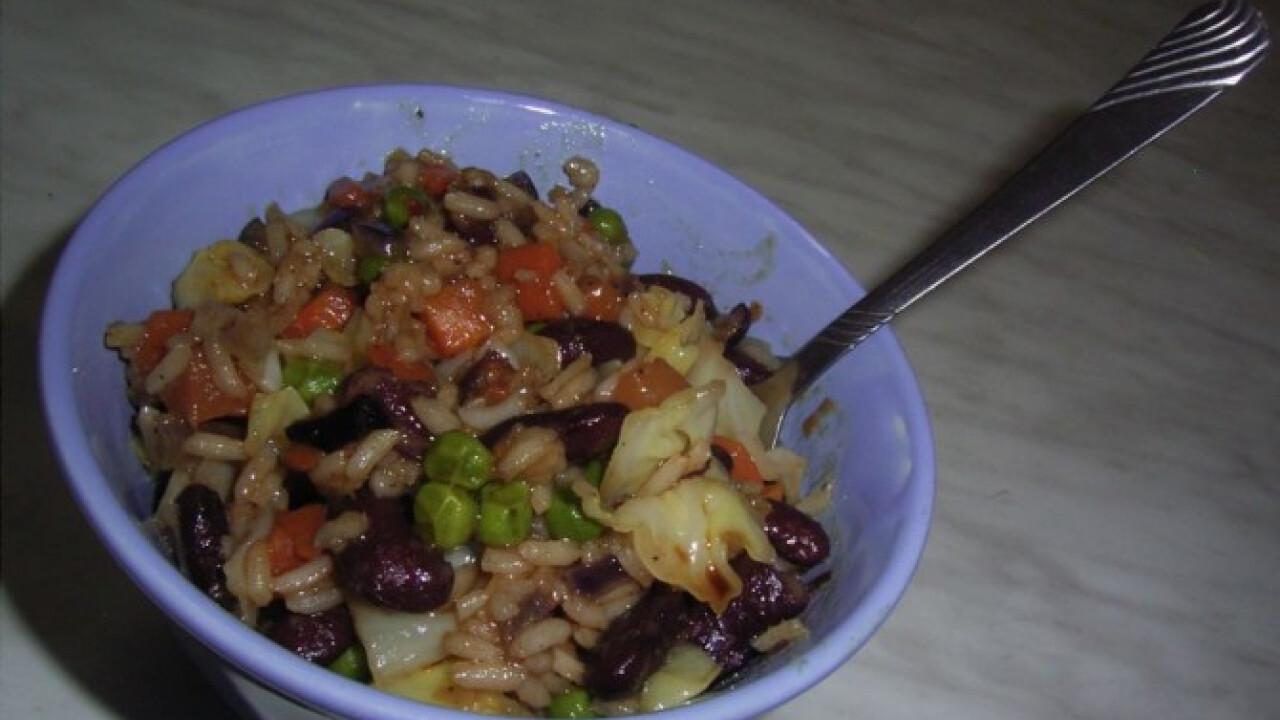 Koleszos sült rizs