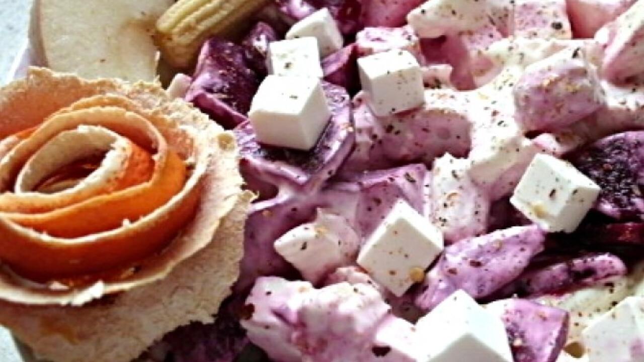 Céklás-fetás vitaminsaláta