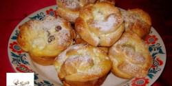 Túrós rózsa muffin formában sütve