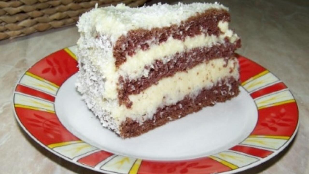 Kókusz- és vaníliakrémes torta