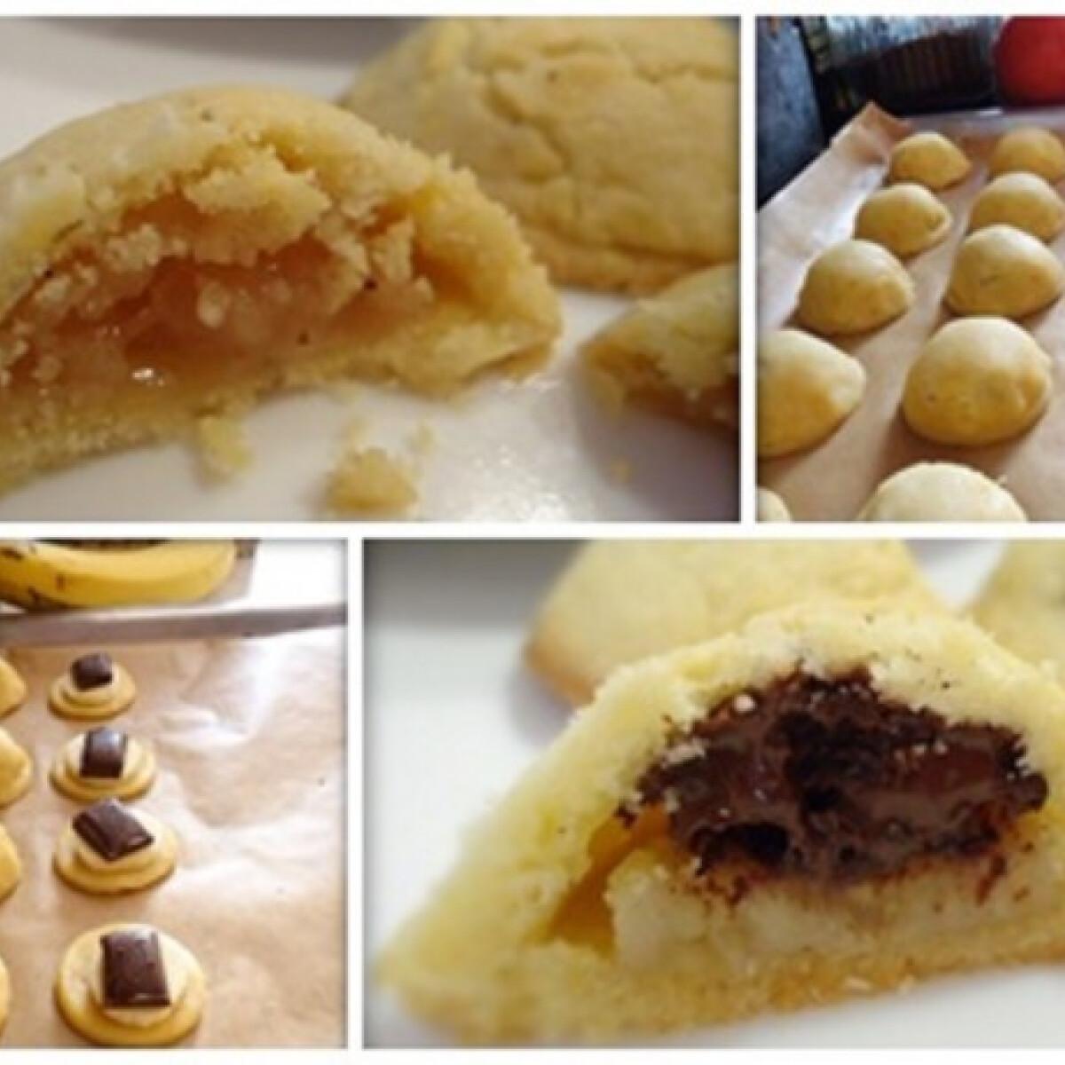 Ezen a képen: Alma szíve - töltött omlós keksz