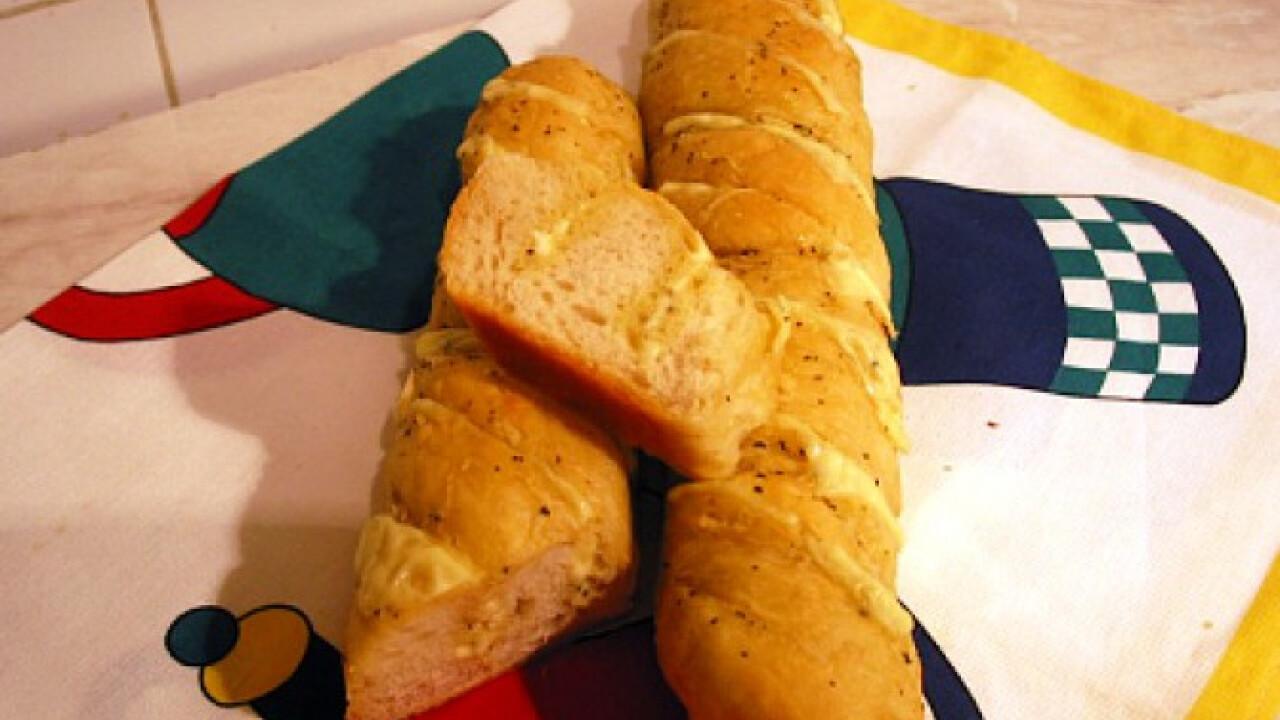 Csavart sajtos bagett Gabystól