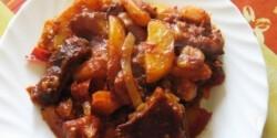 Füstölt húsos paprikás krumpli