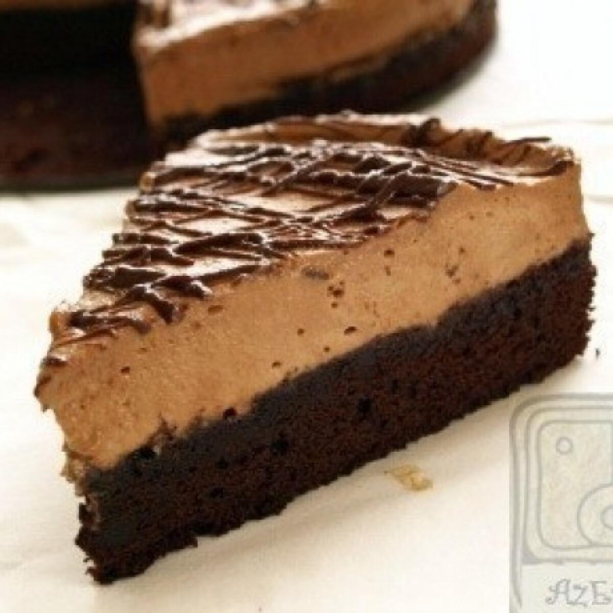 Ezen a képen: Nutella mousse-os brownie torta- a 9. főbűn