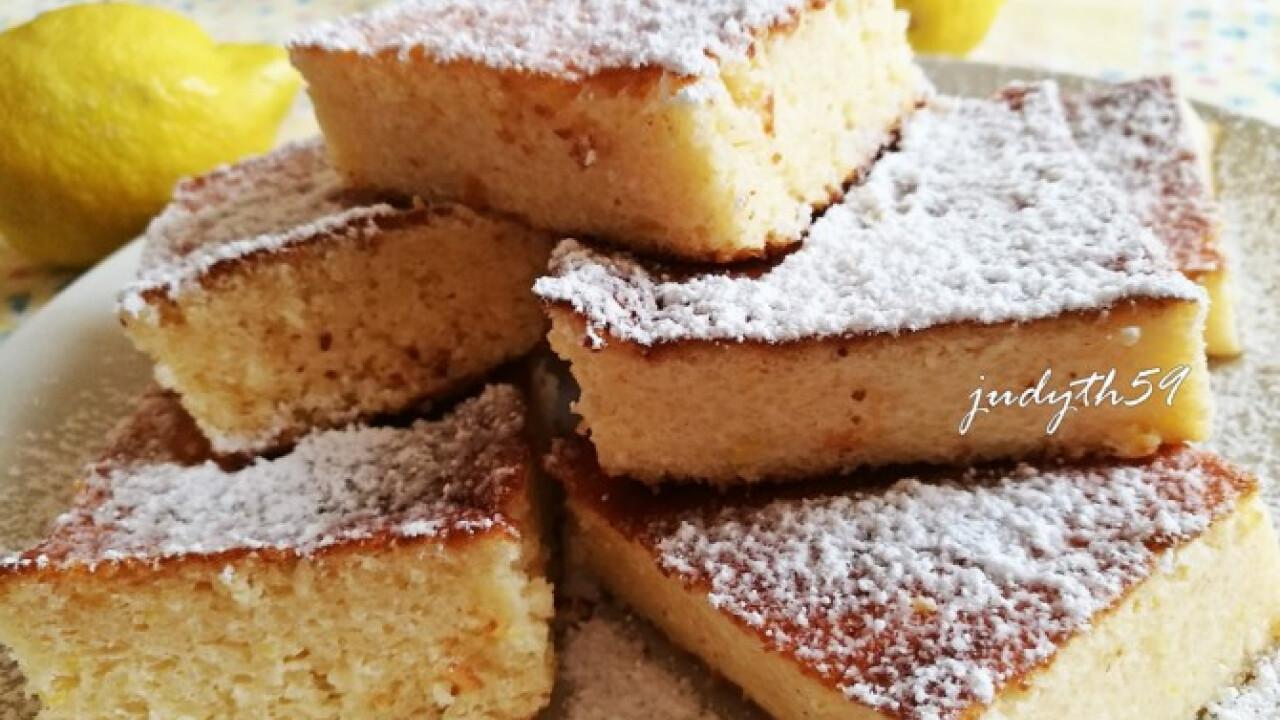 Habkönnyű citromos-túrós-grízes bögrés sütemény