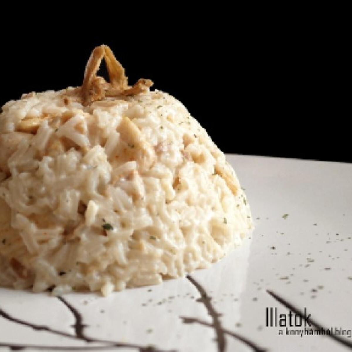 Ezen a képen: Vargányás csirke-rizottó