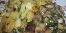 Bélszín gombával és tejbensült krumplival
