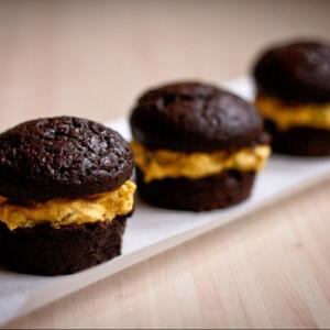 Csokoládés muffin vaníliakrémmel